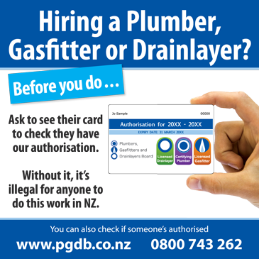 Plumbers Gasfitters and Drainlayers Board